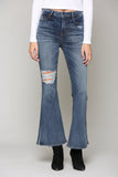 Happi Medium Distressed Flare Jeans