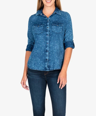 Harlow Denim Shirt in Indigo