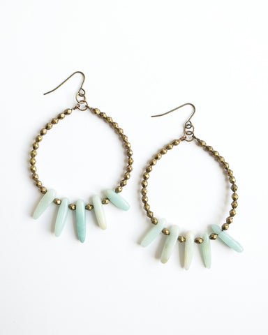 Beljoy Etta Jasper Hoop Earrings