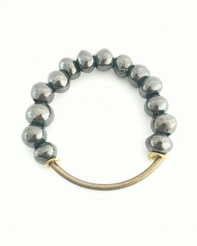 Beljoy Buffy Bracelet In Gunmetal