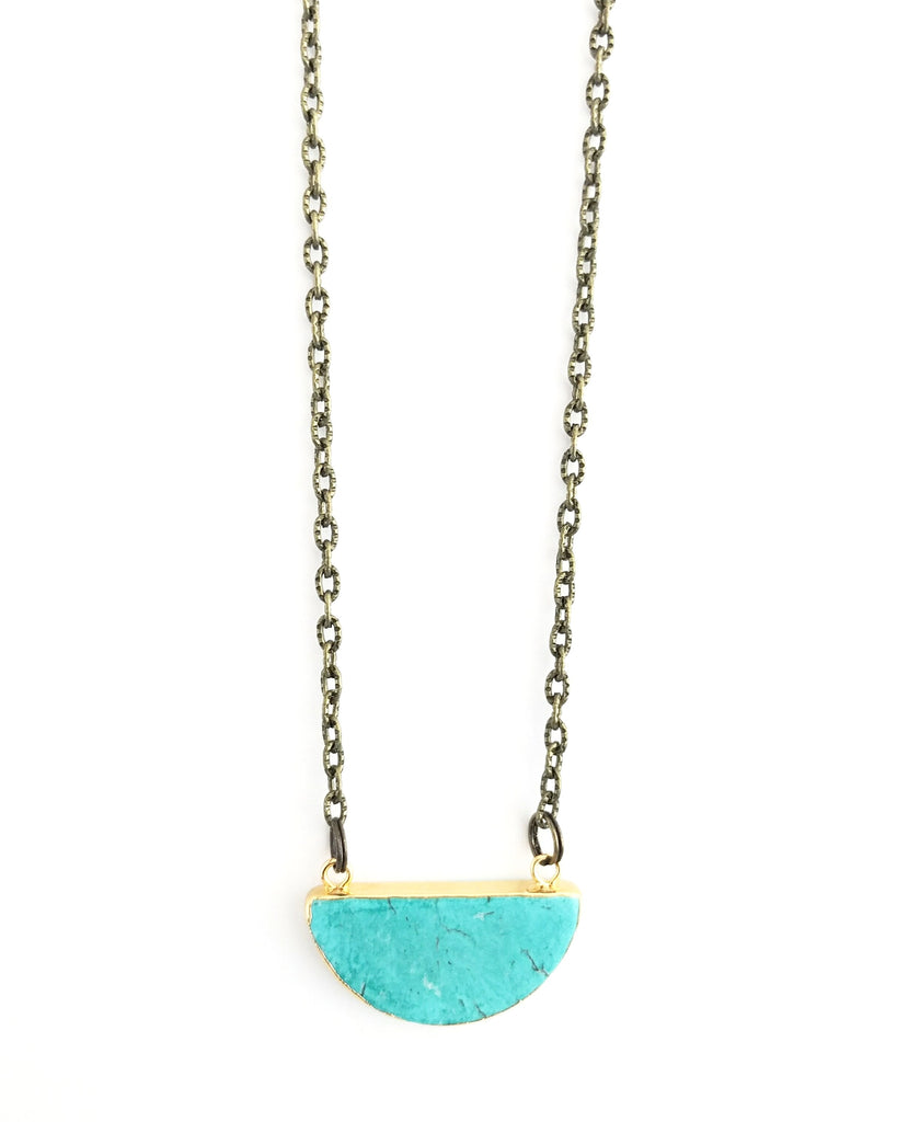 Kylie Necklace, Turquoise