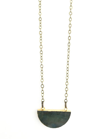 Kylie Necklace, Labradorite