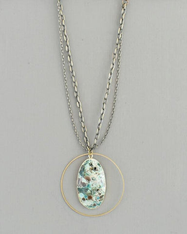 Jenna Necklace, Ocean Jasper