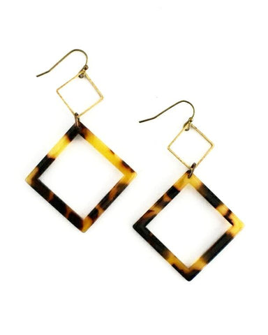 Evonne Earrings, Tortoise