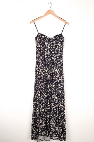 Free People 'Under The Moonlight' Maxi Dress In Navy Combo