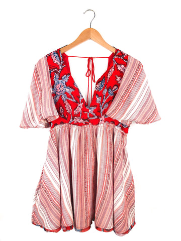 Free People 'Under The Sun' Tunic In Red Rome