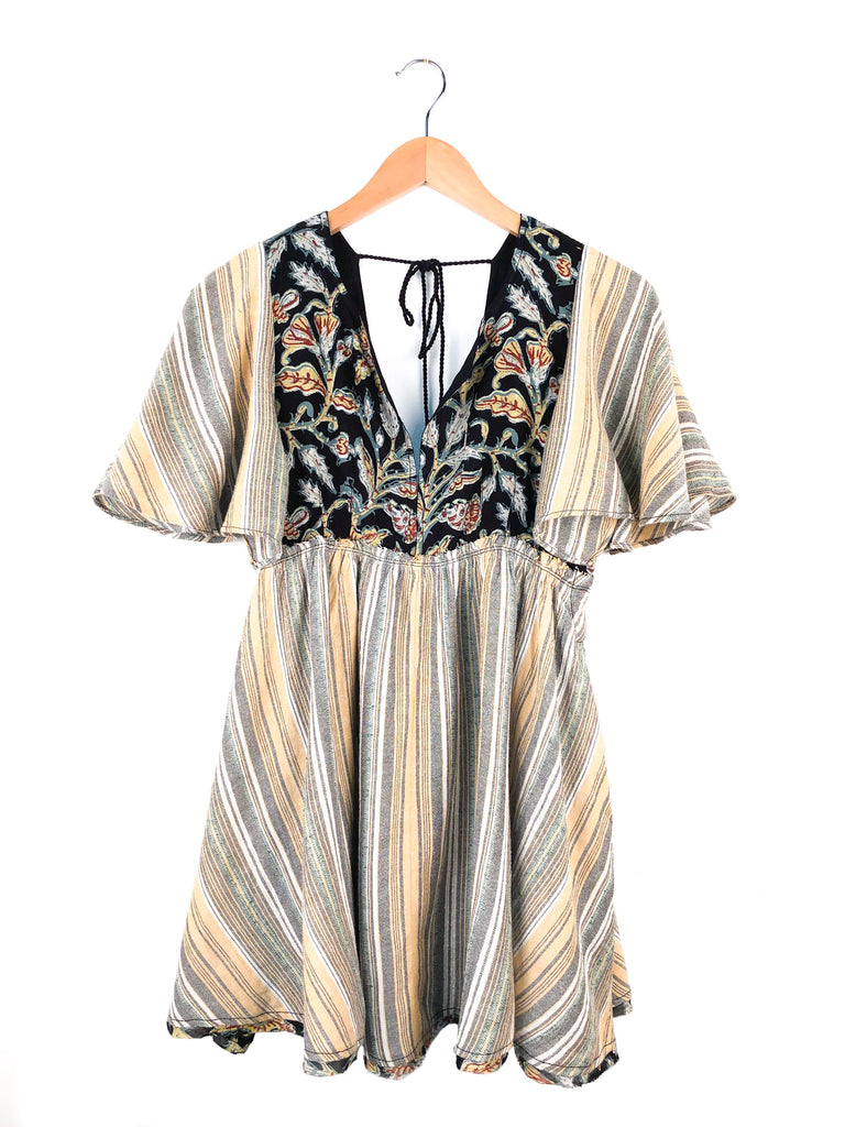 Free People 'Under The Sun' Tunic In Black Combo