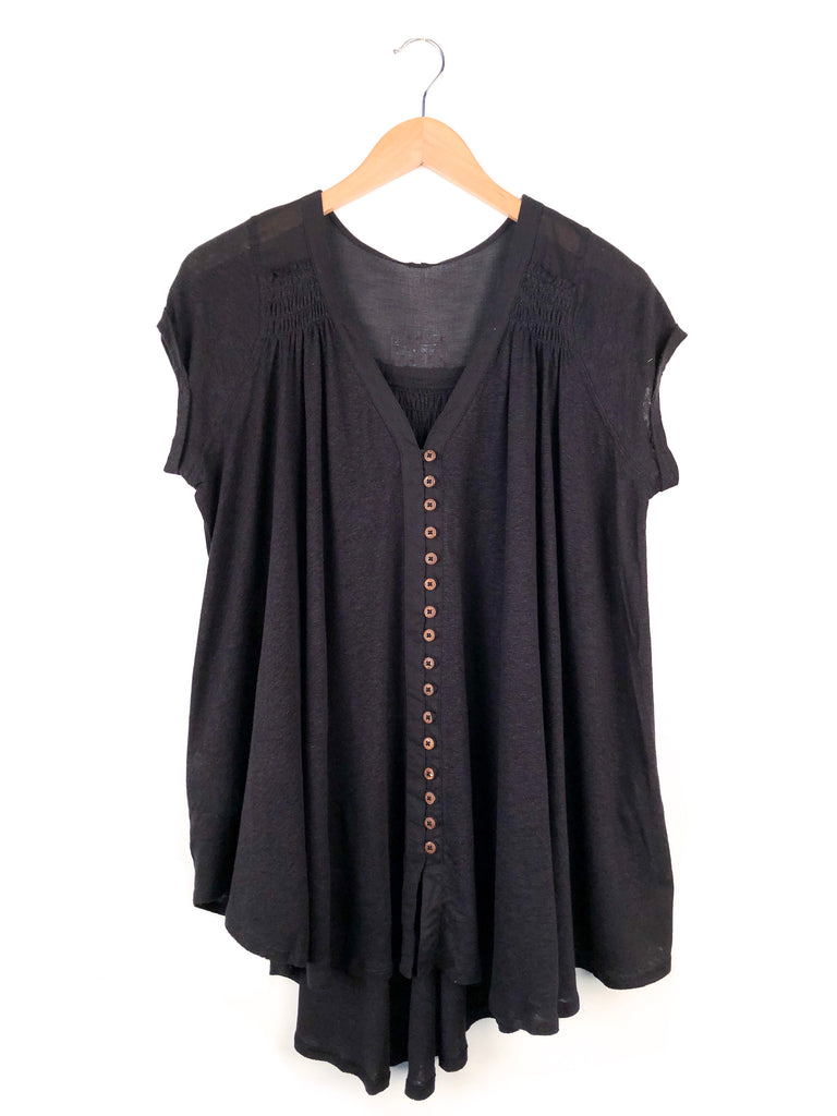 Free People 'Highland' Tee In Black
