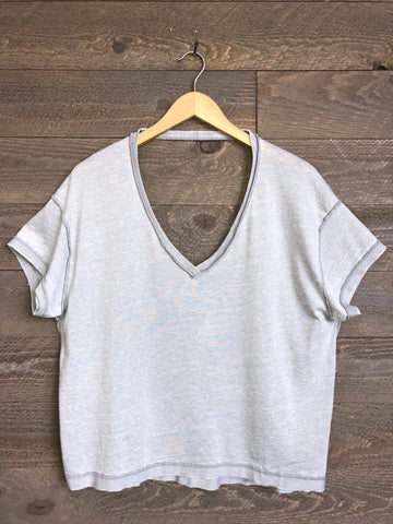 Free People 'All Mine' Tee In Grey