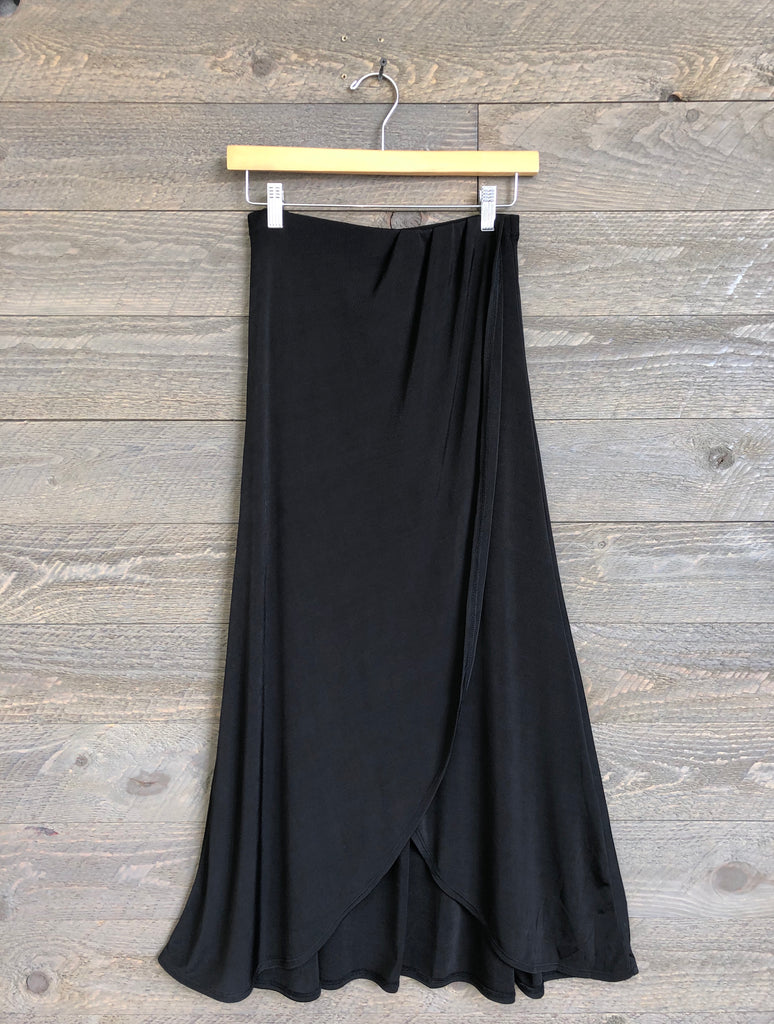 Free People 'Smoke & Mirrors' Midi Skirt In Black