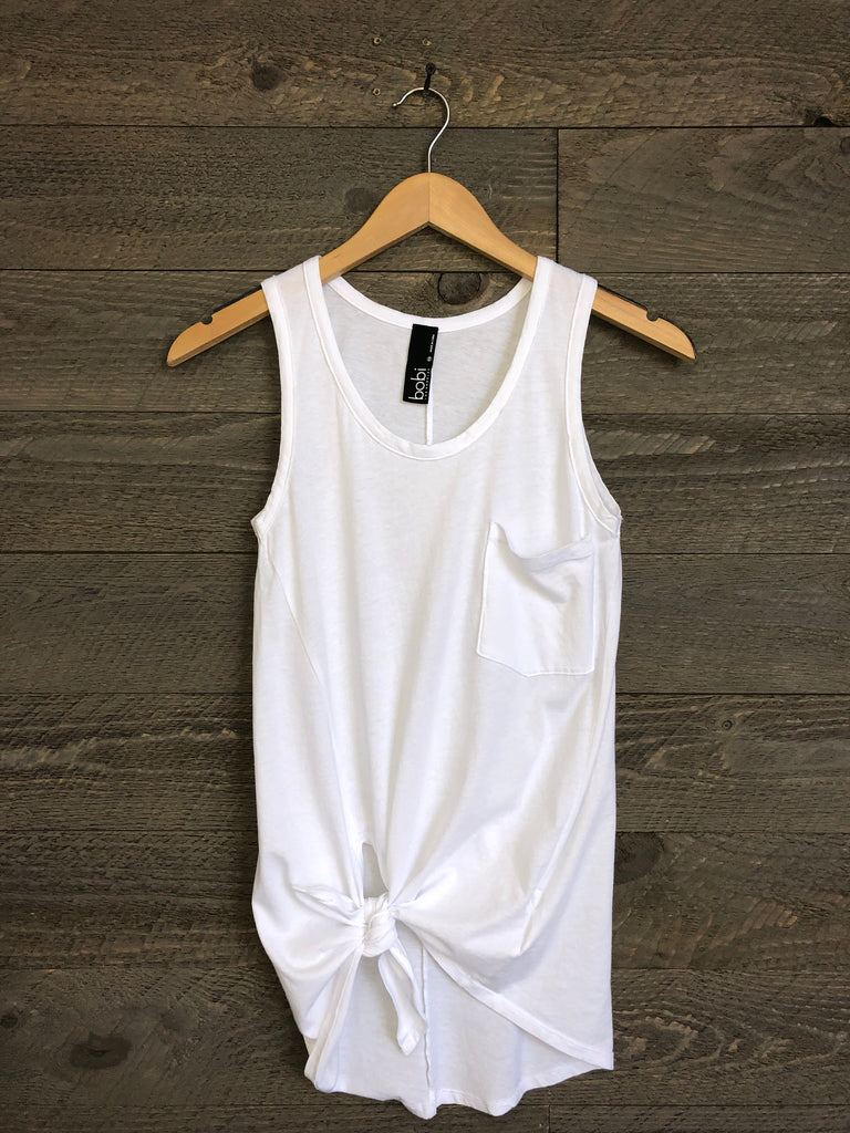 Sequoia Side-Twist Tank In White