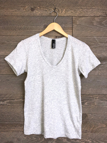 Bobi Riva V Neck In Grey