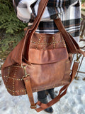 Ainsley Studded Tote, Tan