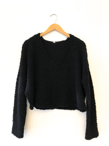 Free People 'Popcorn Pullover' In Black
