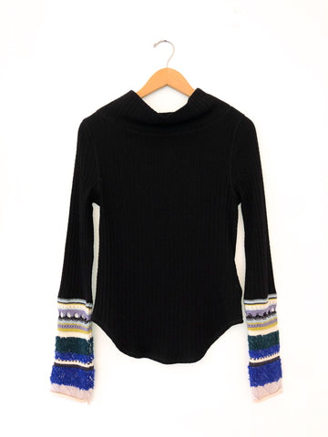Free People 'Mixed Up Knitted Cuff' Sweater