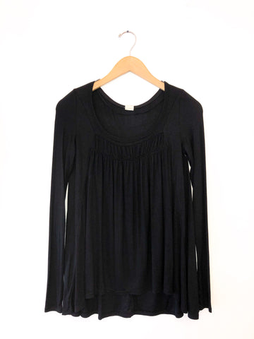 Free People 'Love Valley' Knit Top In Black