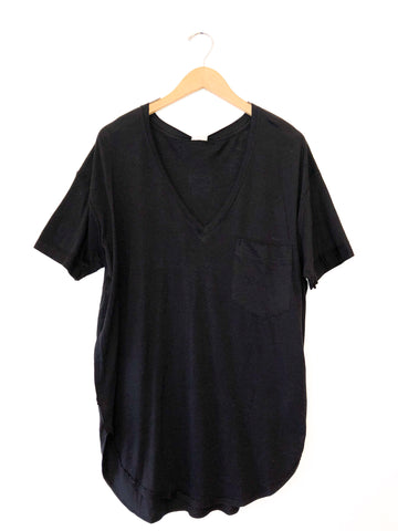 Free People 'Ronnie' V-Neck In Black