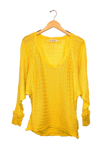Free People 'Thien's Hacci' Top Yellow