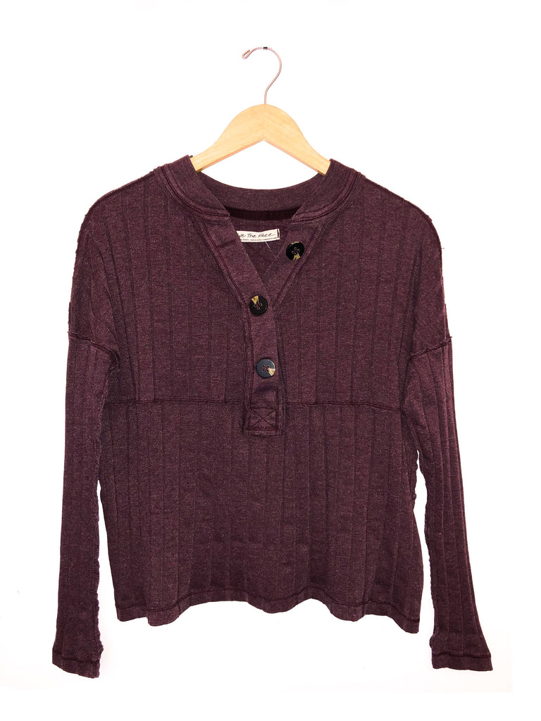 Free People 'In The Mix' Long Sleeve In Magic Berry