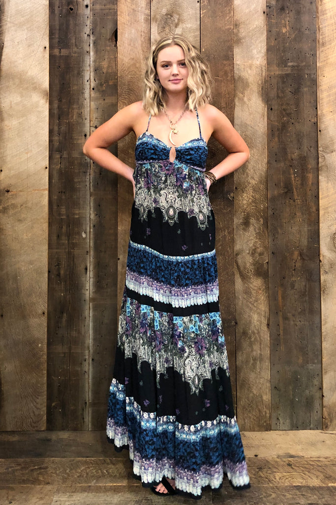 Free People Give A Little Maxi Dress In Black