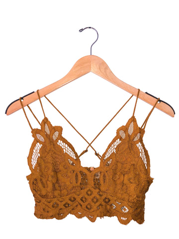 Free People 'Adella' Bralette In Gold