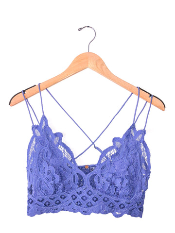 Free People 'Adella' Bralette In Lavender