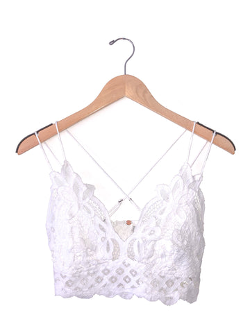 Free People 'Adella' Bralette In White