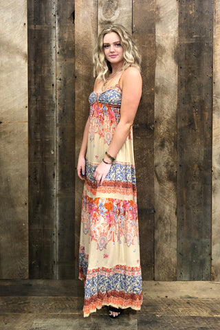 Free People Give A Little Maxi Dress In Ivory