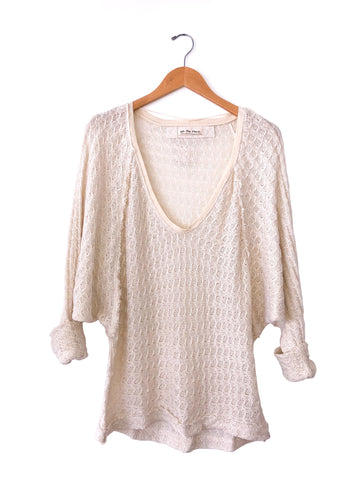 Free People 'Thien's Hacci' Top In Cream