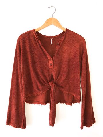 Free People Emma's Henley In Red Rocks