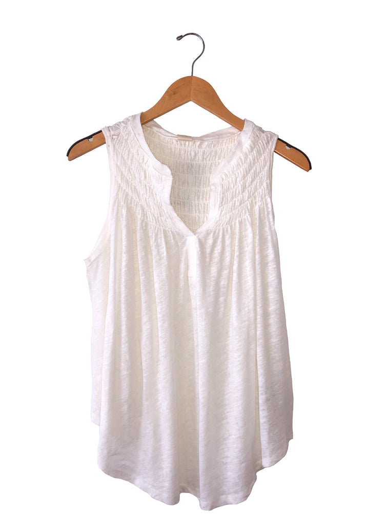 "Free People ""New To Town"" Tank In Ivory"