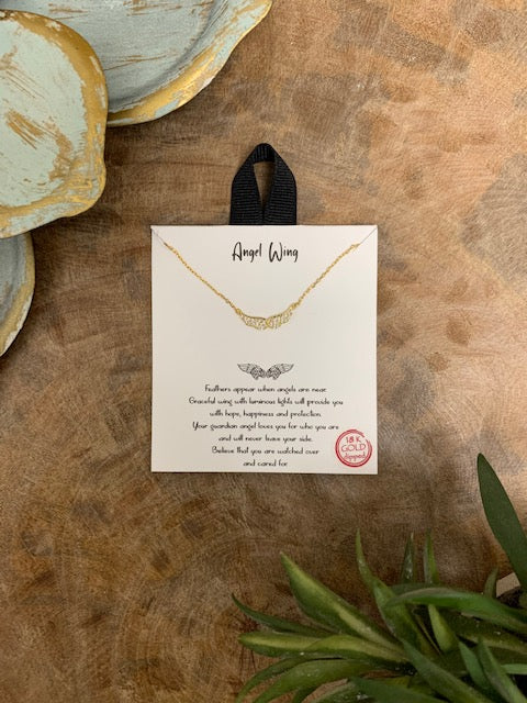 'Angel Wing' Necklace, Gold