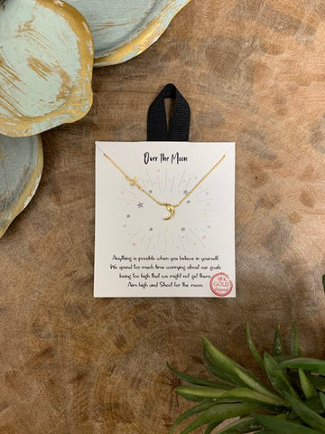 'Over The Moon' Necklace, Gold