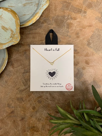 'Heart Is Full' Necklace, Gold