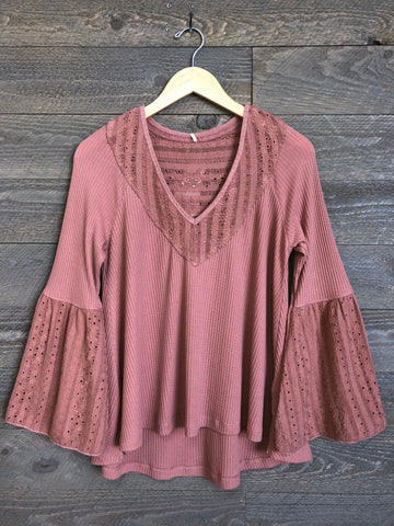 Free People 'Parisian Nights' Top In Rose