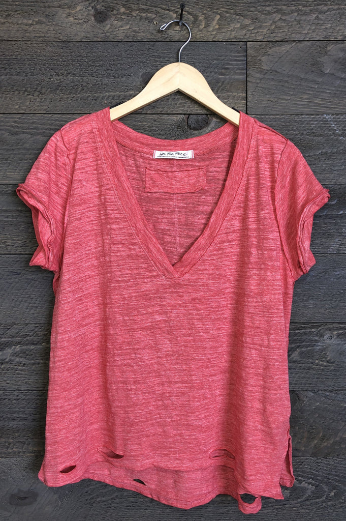Free People 'Sundance' Tee In Camelia