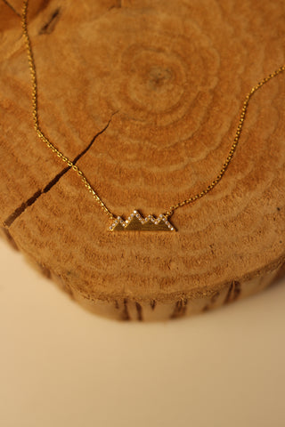 Crystal Peaks Mountain Necklace