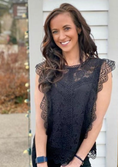 Stella Lace Top, Black