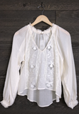 Free People 'Sivan' Blouse In Ivory
