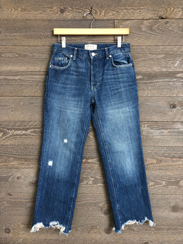 Free People 'Maggie' Jeans In Sequoia Blue