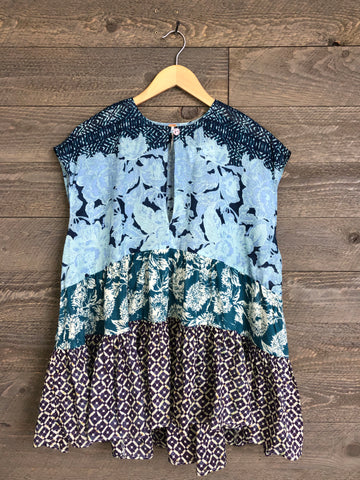 Free People 'Gotta Have You' Tunic In Blue Combo