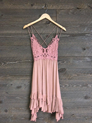 Free People 'Adella' Slip Dress In Rose
