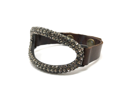 Rebel Designs Oblong Bracelet With Black Diamonds