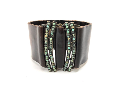 Rebel Designs Mirror Image Cuff With African Turquoise