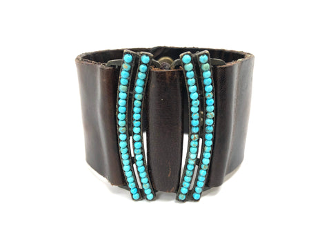 Rebel Designs Mirror Image Cuff With Light Turquoise