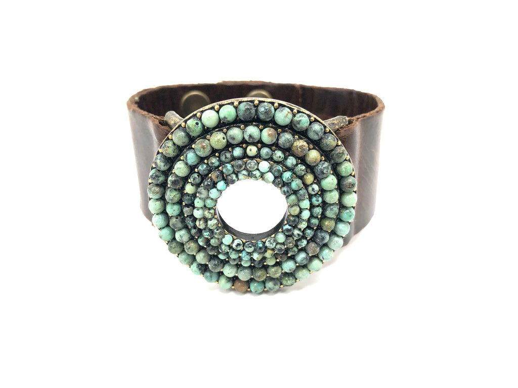 Rebel Designs Radial Bracelet With African Turquoise