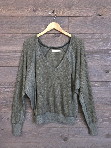Free People 'Santa Clara' Thermal In Army