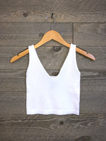Free People 'Solid Rib' Brami In White