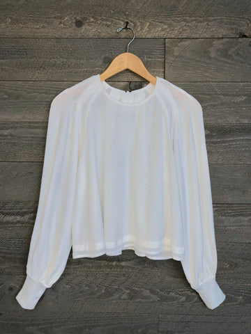 Free People 'Billie' Blouse In Ivory