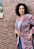 Sunset Blvd Mixed Knit Duster